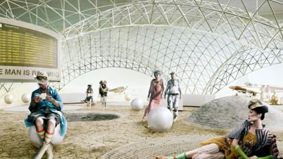 Burning Man Airport Terminal